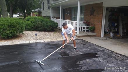 Coating Grandma's driveway