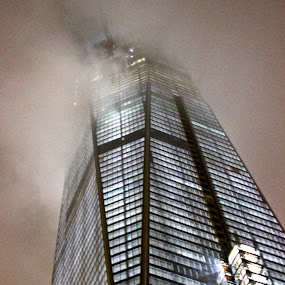 NYC by Miles Scanlon - Buildings & Architecture Other Exteriors ( lights, clouds, new, fog, york, night, city )