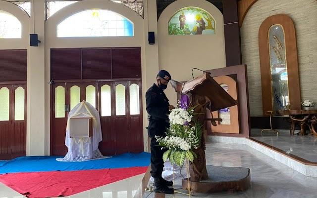 Guna Amankan Ibadah Malam Wafatnya Isa Al-masih, Gegana Lampung Terjunkan Unit Jibom