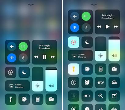 Image result for iOS 11 control center