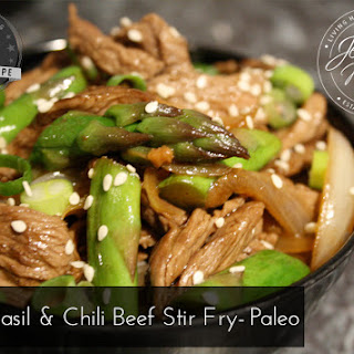 Basil and Chili Beef Stir Fry - Paleo