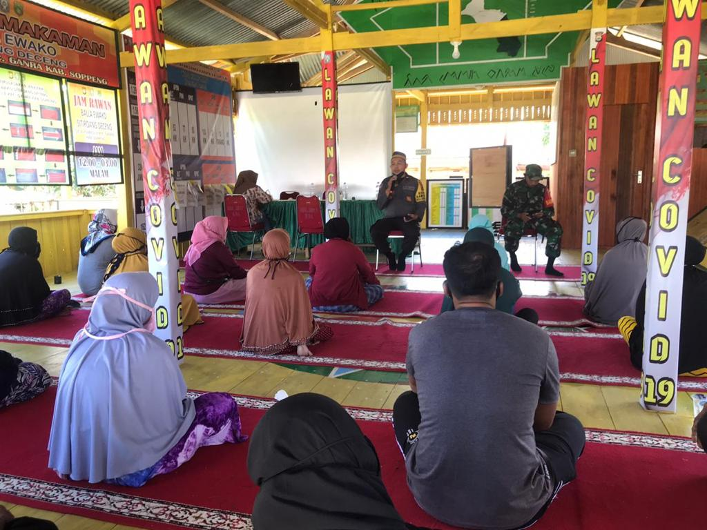 Kawal Penyaluran BST Tahap IX di Desa Lompulle, Bhabinkamtibmas Ganra Sampaikan Ini