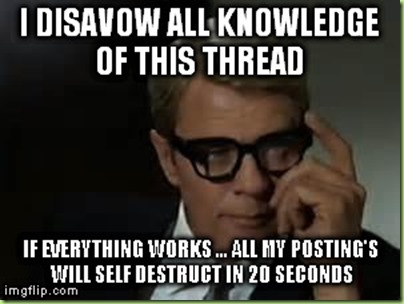 disavow knowledge