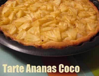 recette de la tarte exotique à l'ananas et à la noix de coco