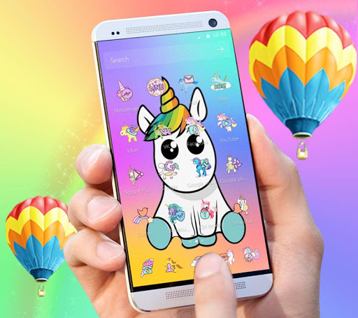 Cute Colorful Cartoon Unicorn Theme 1.1.1 screenshots 4