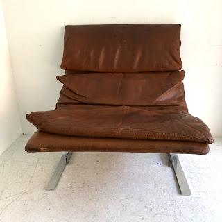 Saporiti Italia Leather Lounge Chair