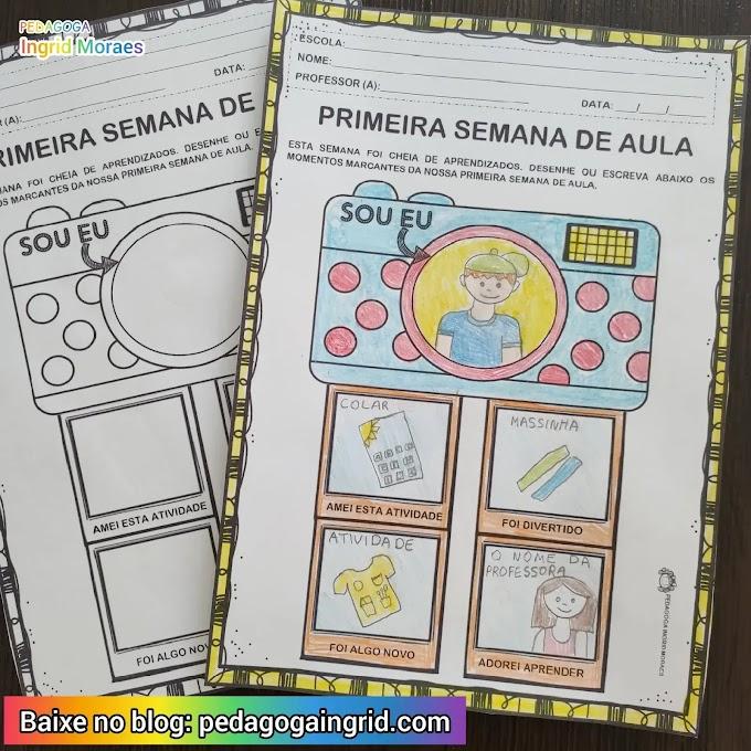 ATIVIDADE PRIMEIRA SEMANA DE AULA