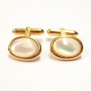 Christian Dior Mother-of-Pearl Cufflinks