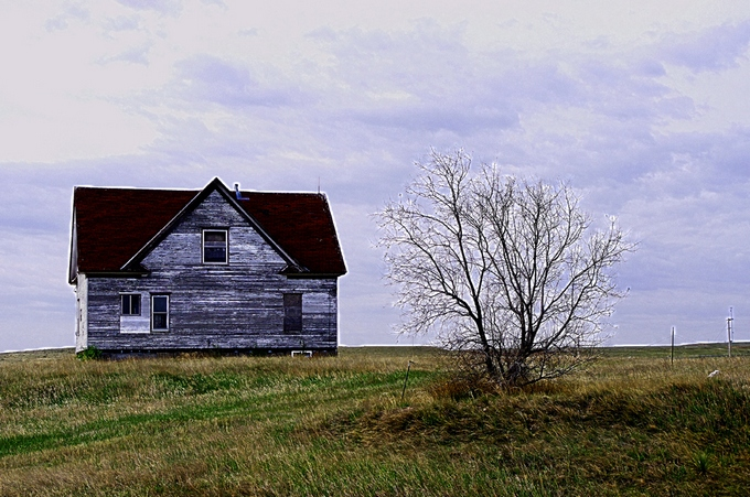 """Kansas Farmhouse"" by Keith Ornduff"