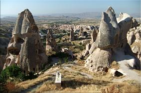 Casas cueva de Uçhisar - Capadocia