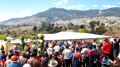 Opening ceremony. Sienna Project 2011 Guatemala trip to help build school in Palanquix, Solala, Guatemala. Photos by TOM HART