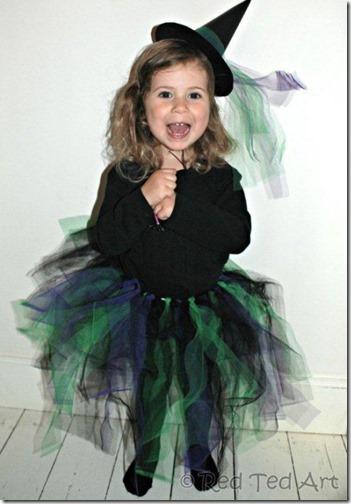 disfraz de bruja con tutu