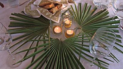 Sizilien - Candlelight Dinner auf der Terrasse der Sprachschule Solemar Sicilia.