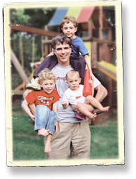 Randy Pausch and his three children
