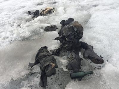 Ibu bapa hilang 75 tahun ditemui dalam glasier