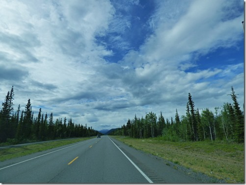 Leaving Tok, Glenn Highway Alaska