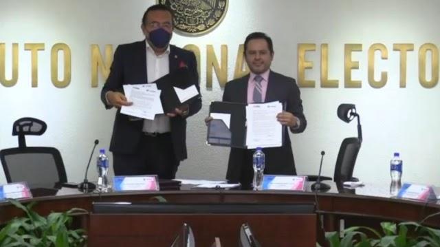 COPARMEX CDMX Y EL INE FIRMAN CONVENIO DE COLABORACIÓN INSTITUCIONAL
