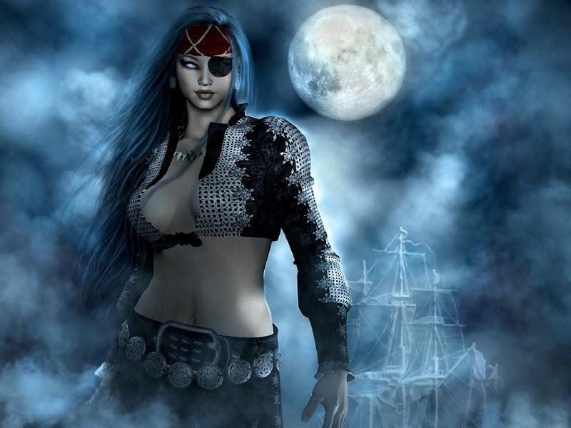 Pirate Princess In Moonlight, Moon Magic