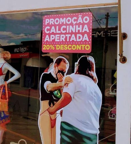 """Loja faz campanha de """"calcinha apertada"""" com a imagem de João Doria"""