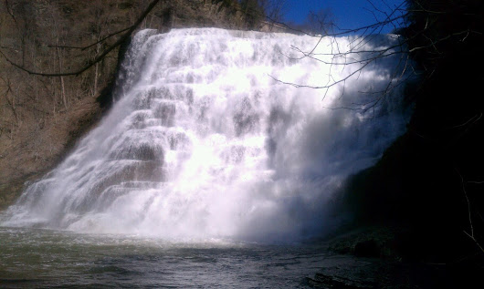 Springtime At Ithaca Falls, Photo by Janice Brodowsky