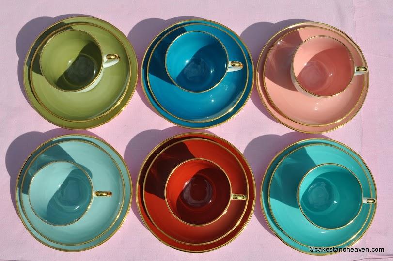 Susie Cooper 1950s Colourful Tea Set