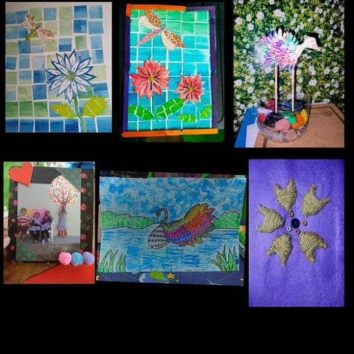 Hasil kerja Pendidikan Seni Visal Tahun 5