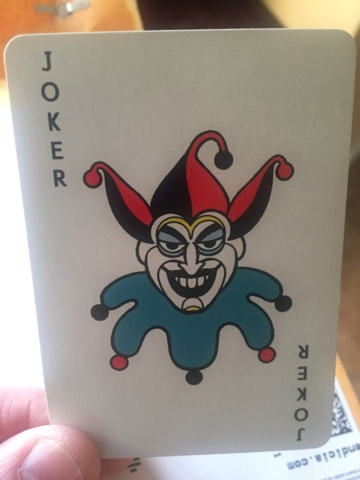 Spooky Clown Head Joker