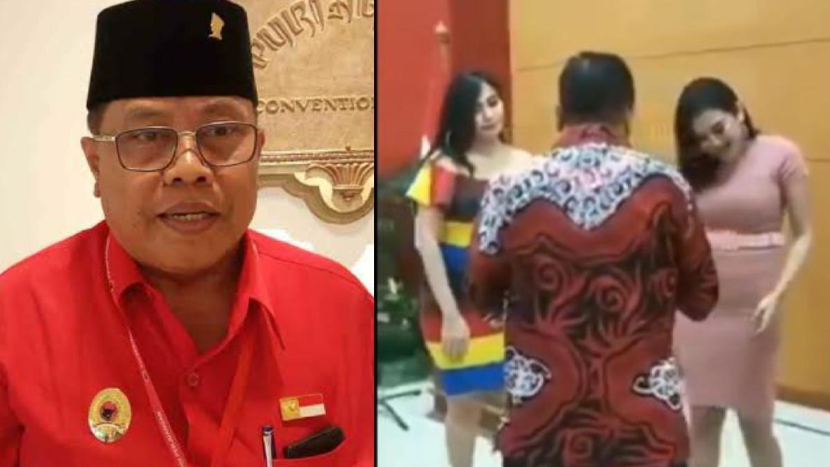 Baru Dilantik, Wali Kota Blitar Nyanyi & Joget Bareng Wanita Seksi saat Tasyakuran