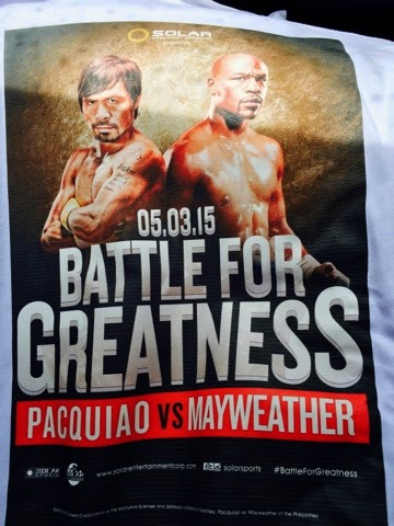 Battle for Greatness:: Pacquiao vs. Mayweather event shirt