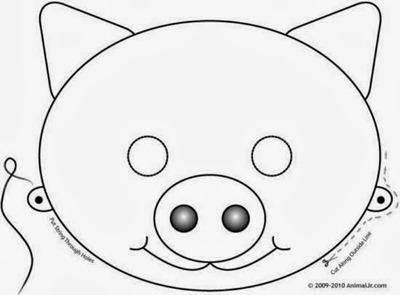 CERDO mascara de animales  para colorar (89)_thumb