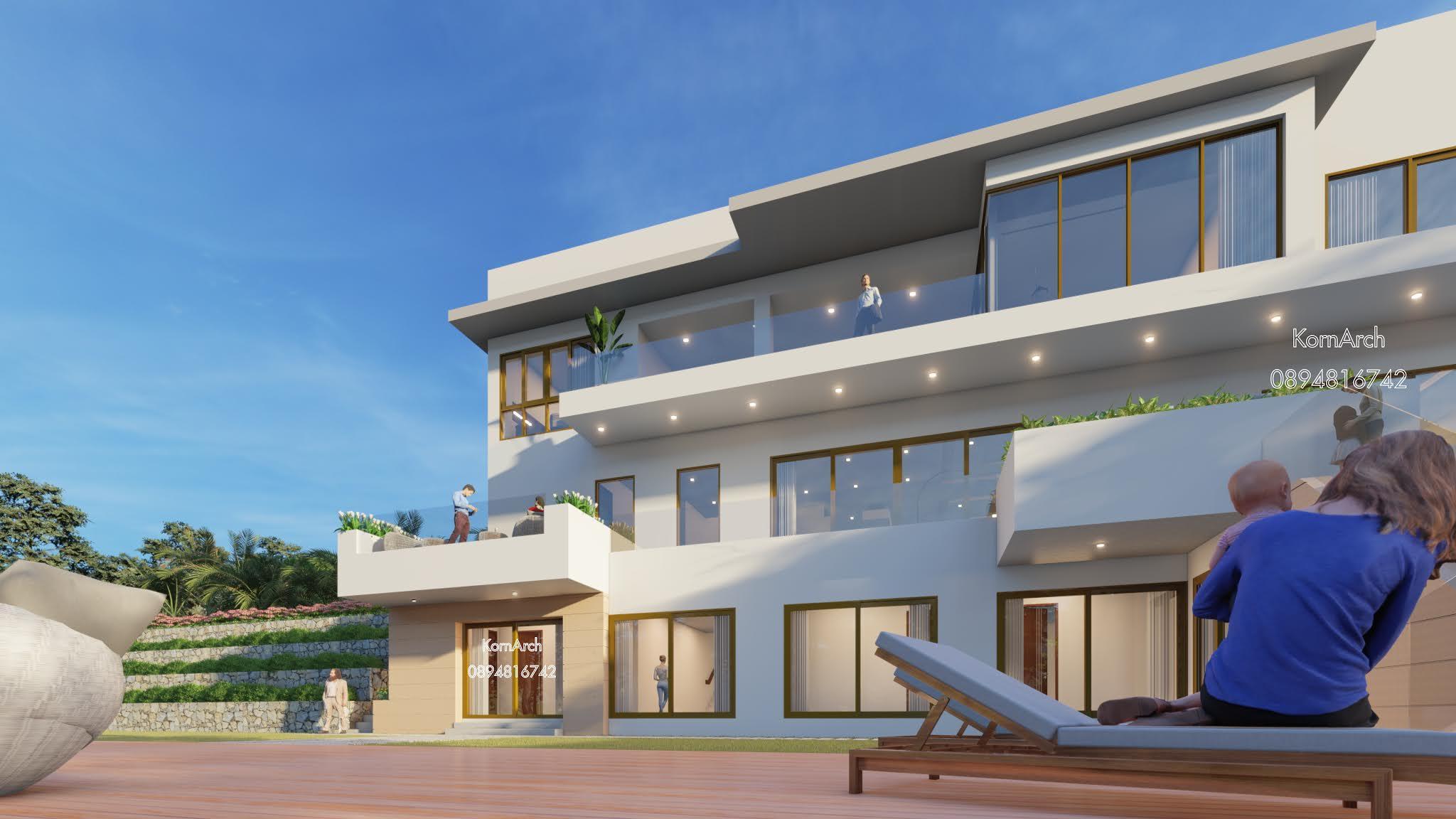 แบบบ้าน3ชั้น เจ้าของอาคาร คุณพลอย สถานที่ก่อสร้าง นครหลวงเวียงจันทน์ สาธารณรัฐประชาธิปไตยประชาชนลาว
