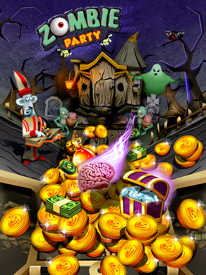 Zombie Ghosts Coin Party Dozer- screenshot