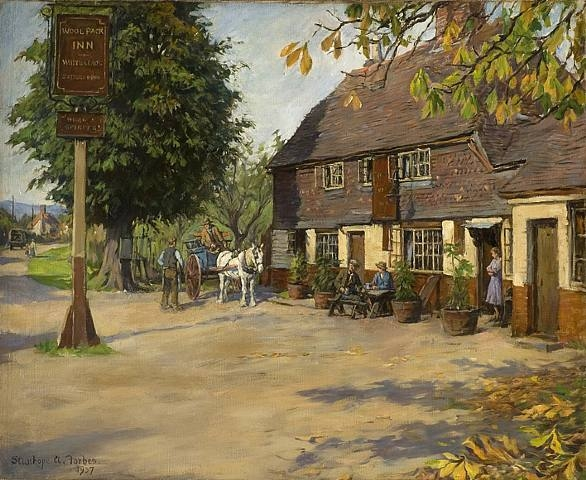 Stanhope Forbes - The Wool Pack Inn