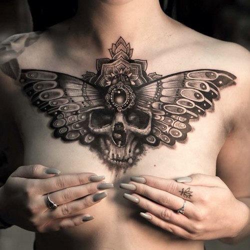 este_sensacional_preto_e_branco_tatuagem_de_caveira