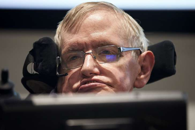 British scientist Stephen Hawking attends the launch of The Leverhulme Centre for the Future of Intelligence (CFI) at the University of Cambridge, in Cambridge, eastern England, on 19 October 2016. Photo: Niklas Halle'n / AFP / Getty Images