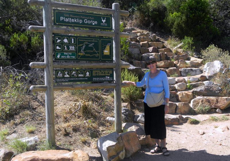 Trail head for the Table Mountain climb