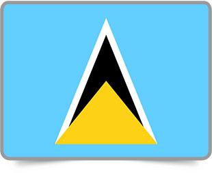 Saint Lucian framed flag icons with box shadow
