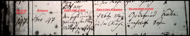 Baptismal Record, Ruhlkirchen Catholic Church, Hessen, Gottfried Kuhn, 26 May 1835