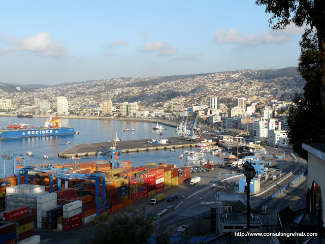 Still a working port--though aparently ever since the Panama canal got built Valparaiso has been on the decline