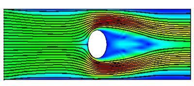 Расчет взаимодействия жидкости с заряженными частицами с внешним электростатическим полем. electromagnetics@cfx. Течение жидкости в отсутствии внешнего поля