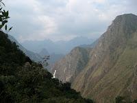 Machu Picchu in the distance