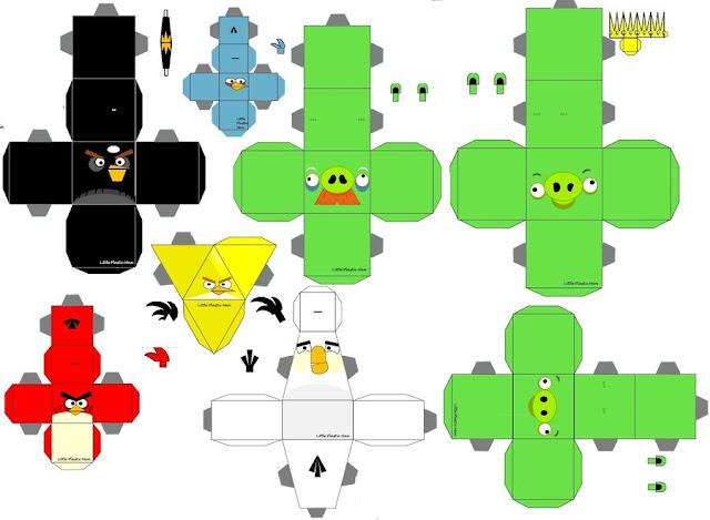 Contoh Paper Replika Angry Birds Gratis