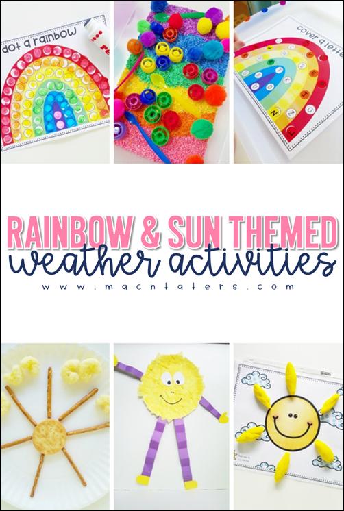 Rainbow & Sun Themed Activities for Kids