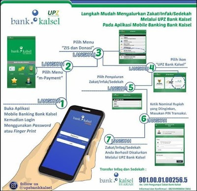 Salurkan ZIS, Lebih Mudah dengan Mobile Banking Bank Kalsel