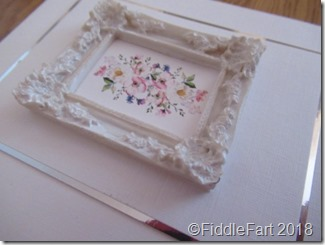 miniature picture frame card