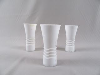 White Marble Goblet Trio (3)