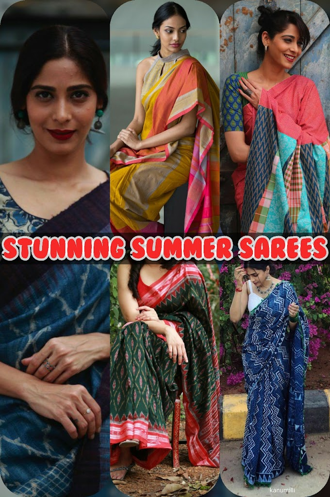 GET THE UBER CHIC LOOK FROM THE LATEST COTTON SAREE COLLECTION BY DIVIJA STORE.