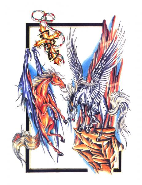 Magick Tattoo Design 5, Fantasy Tattoo Designs