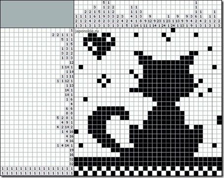 siluetas gatos punto de cruz monocromo  (11)