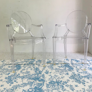 Kartell + Philippe Starck Lou Lou Ghost Chair Pair
